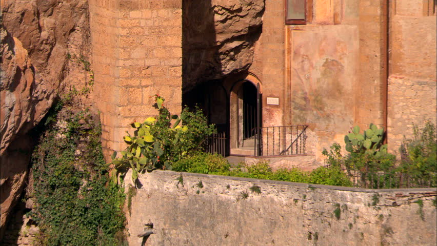 AERIAL Italy-Palatine Hill 2004 - HD stock footage clip