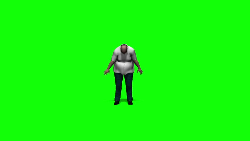 Fat Man Dancing/A funny fat guy is dancing in front of a green screen. Animation.  | Shutterstock HD Video #10066079