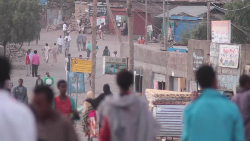 ETHIOPIA - CIRCA -2011: Lalibela Town, youth, school children, Ethiopia, Rural Village, Africa