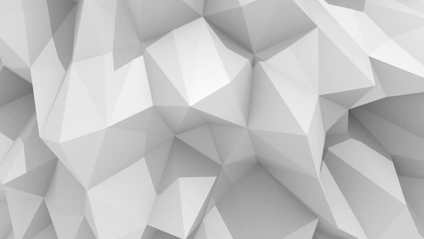 White polygonal geometric surface computer generated for Grey 3d wallpaper