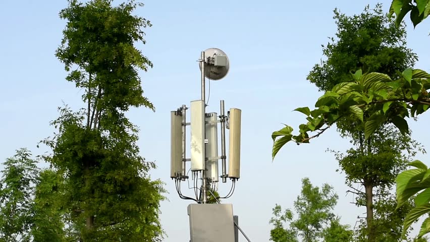 Base station among the trees | Shutterstock HD Video #10100513