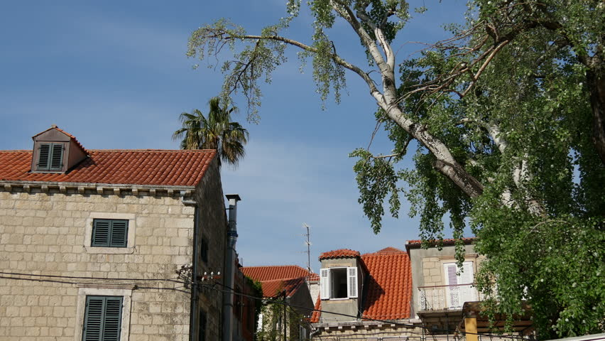 Houses in old town Cavtat Croatia   Shutterstock HD Video #10101953