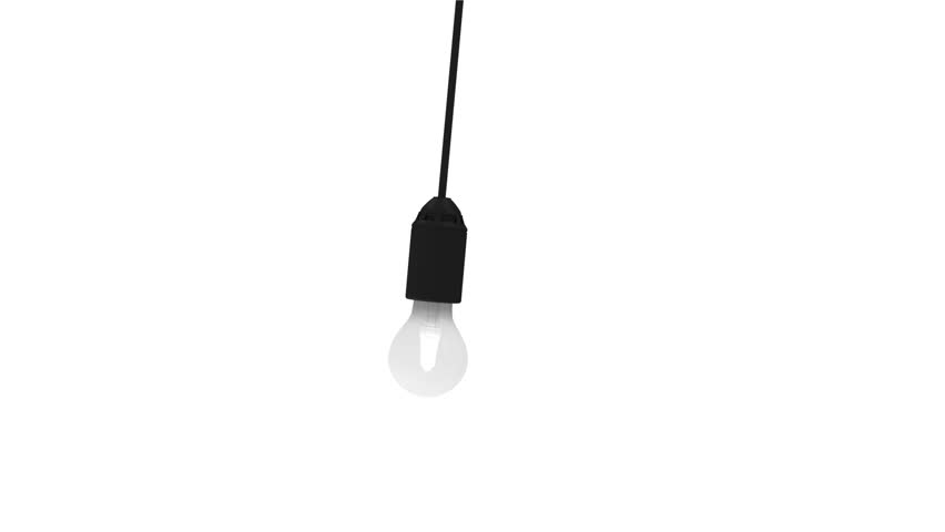 4K Seamless Looping Animation of Hanging Swaying Light Bulb on a different backgrounds. 4K Ultra HD 3840x2160 Video Clip. Green Screen and Alpha Matte is Included