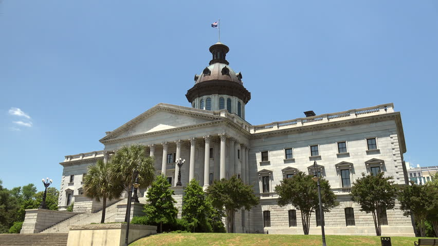 Columbia South Carolina Usa May 8 2015 The South Carolina State Capitol Building In