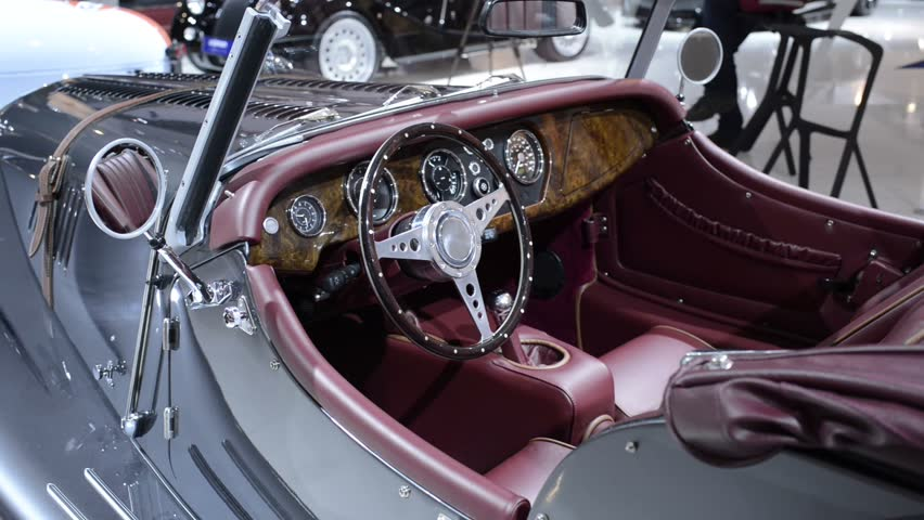 amsterdam the netherlands april 16 2015 morgan plus 8 new classic sports car interior on. Black Bedroom Furniture Sets. Home Design Ideas