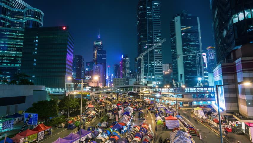 Hong Kong umbrella timelapse   Shutterstock HD Video #10214624
