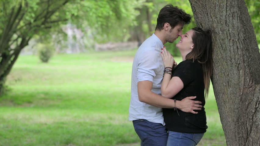 Two Lovers Are Kissing In The Park, Kisses, Hugs, Love Stock Footage Video 10219727 - Shutterstock