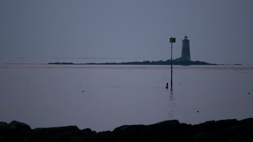 Portsmouth New Hampshire harbor whaleback lighthouse | Shutterstock HD Video #10261712