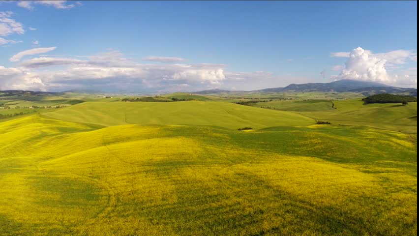 Typical landscape of  Tuscany, Italy. Aerial view | Shutterstock HD Video #10268003