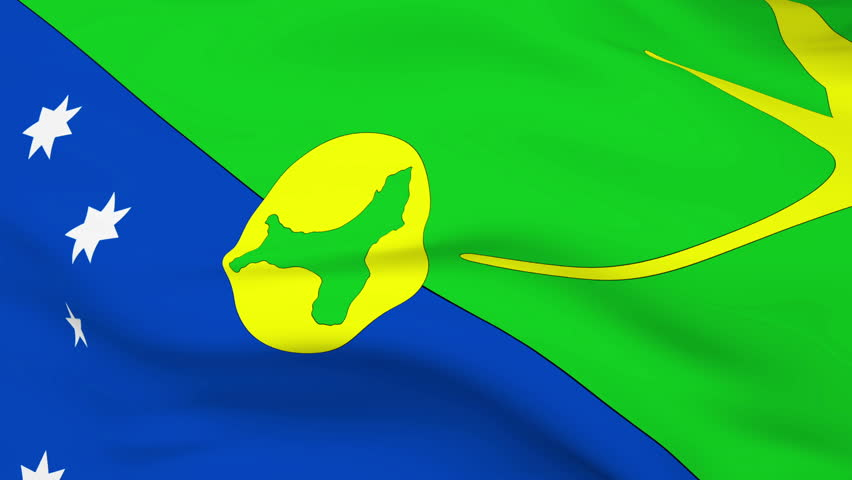 Christmas Island Flag Slowly Waving. Seamless Loop. Stock Footage Video 1030081 - Shutterstock
