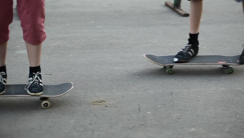 stunts on a skateboard - HD stock video clip