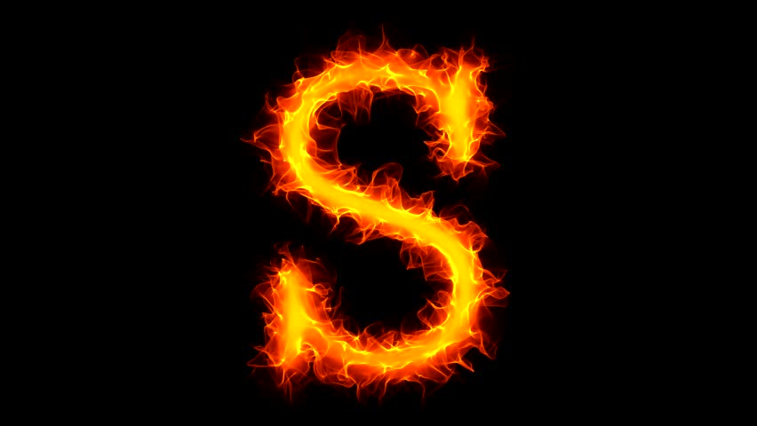 Letter S on fire