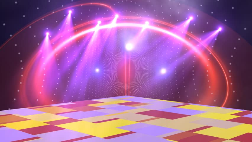 disco lights background for titles logo chromakey green screen