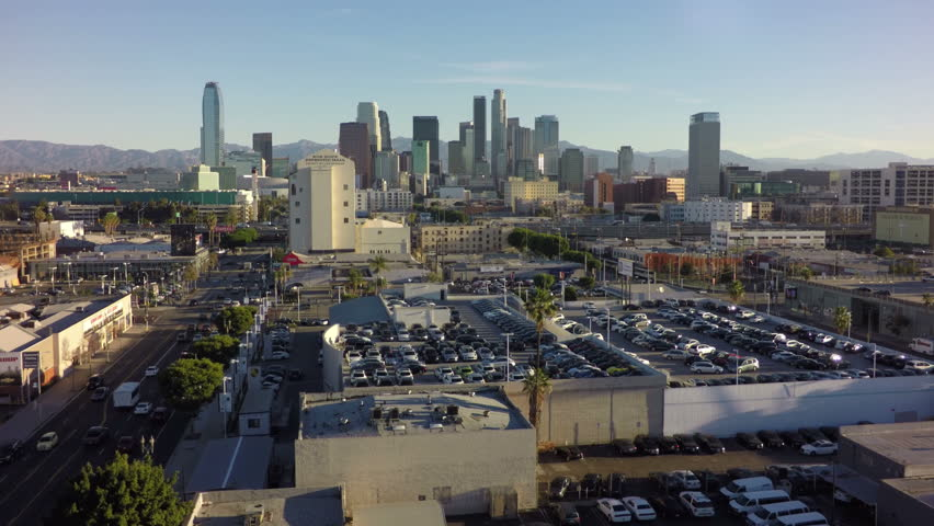 Downtown Los Angeles Skyline Aerial - 2015 | Shutterstock HD Video #10375904