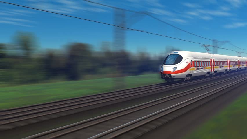 Modern high speed passenger train