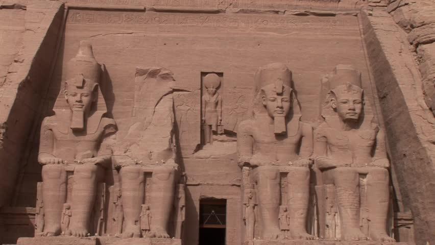 Temple Abu Simbel, Rameses II, Egypt. Video footage.