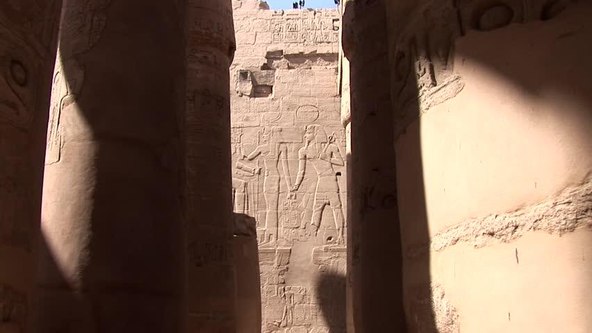 Video footage, Karnak temple in Egypt