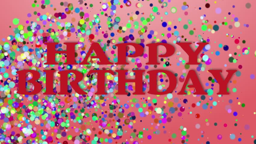 Happy Birthday, 3d Animation Stock Footage Video 3845606