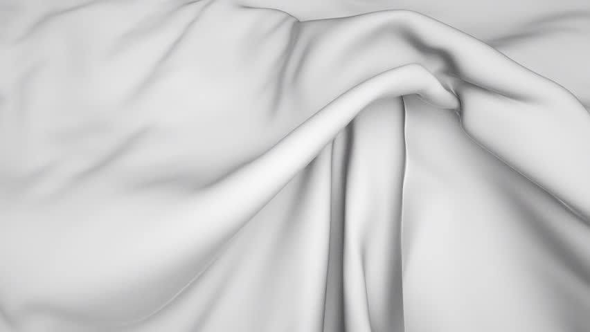 3d flowing white cloth, weaving textile, white silk background with alpha channel | Shutterstock HD Video #10552835