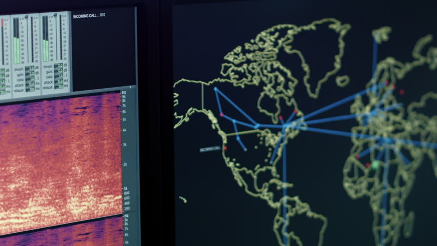 modern espionage facility to analyze incoming calls and data packets in realtime