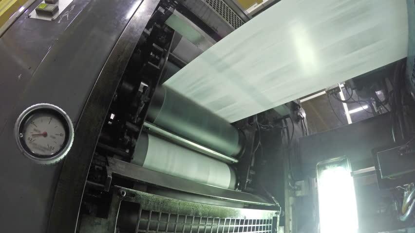 4k Web set offset print shop newspapers Printing (Loop), Newspapers coming off the rotation printing press industrial machine. Seamless looping video, uhd stock video   Shutterstock HD Video #10681040