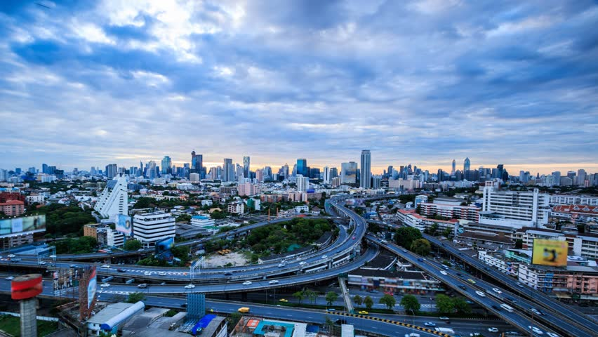 4K.Time lapse city landscape cityscape at Bangkok city asia Thailand. Footage Video Ultra HD, 4096 x 2304  | Shutterstock HD Video #10690139