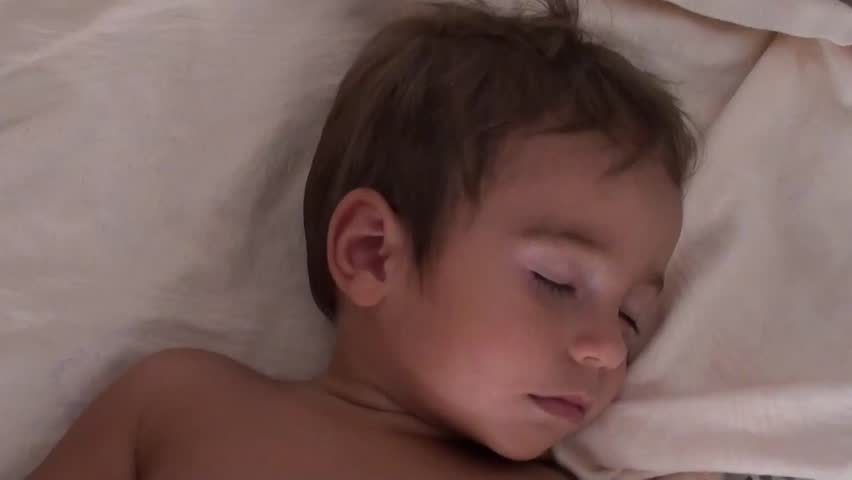 Sweet handsome child asleep  - HD stock footage clip