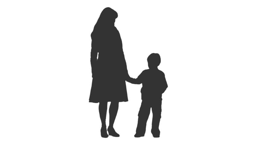 Child Standing Silhouette