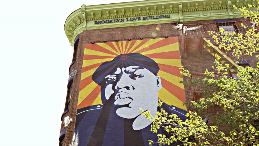 New york city shutterstock for Biggie smalls mural brooklyn