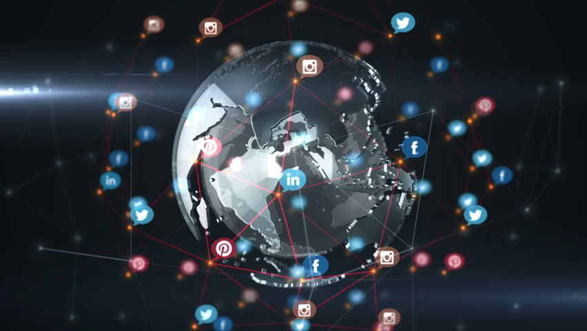 Editorial Animation: Abstract background of technology network with rotation of glassed earth globe. Animation of rotation abstract lines and dots linking network with numbers counters. Animation of seamless loop. | Shutterstock HD Video #10745561