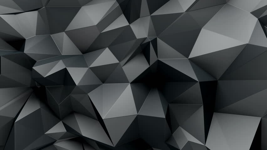 3d abstract geometric background with sharp spikes with shadows | Shutterstock HD Video #10747775