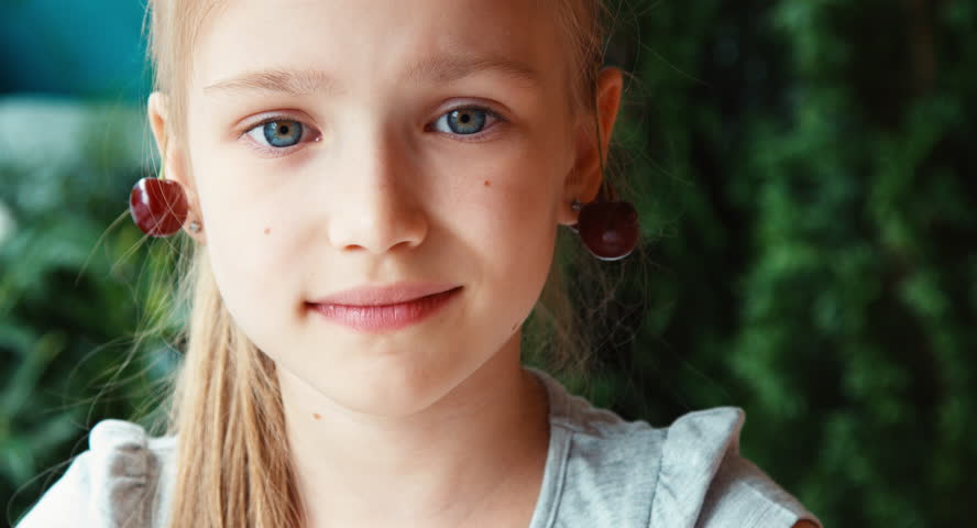 Portrait of a young beautiful girl teen girl is shy in for Beautiful small teen