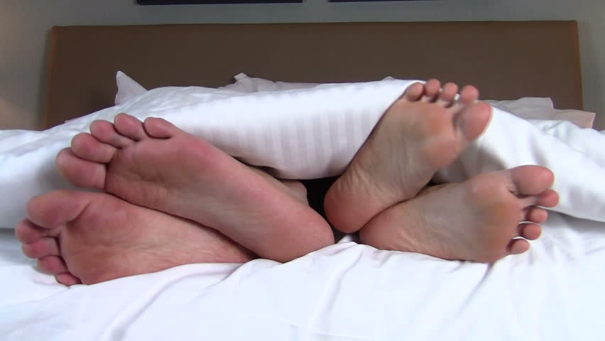 Close-up of arguing couple's feet - HD