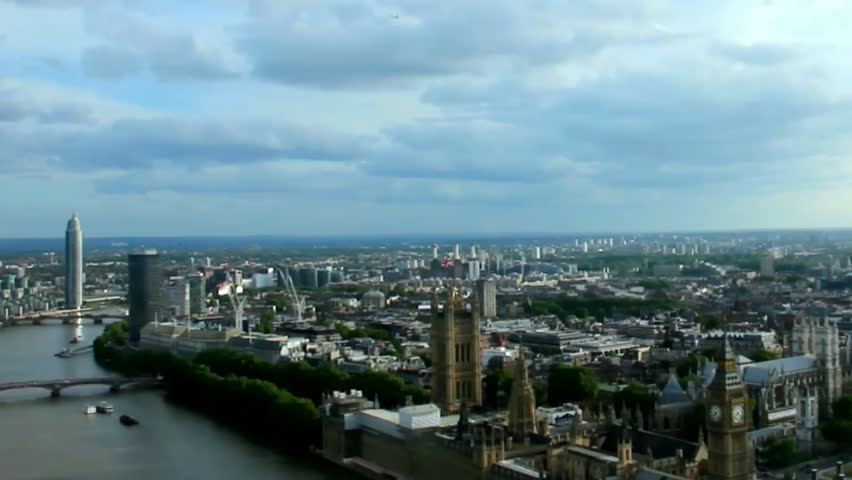 Cityscape  London . England. Slow motion video | Shutterstock HD Video #10852553