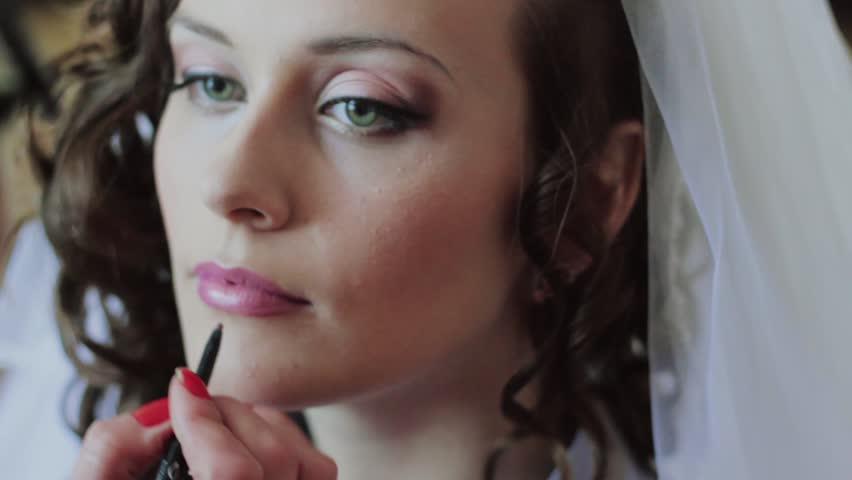 Does Wedding Makeup Artist : Beautiful Bride Wedding Make-up Stock Footage Video ...
