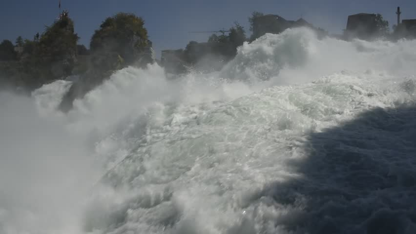 rhine waterfalls in Switzerland panorama - HD stock video clip
