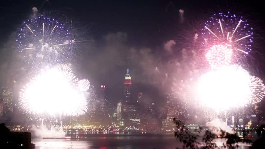 Fireworks at New York City HD