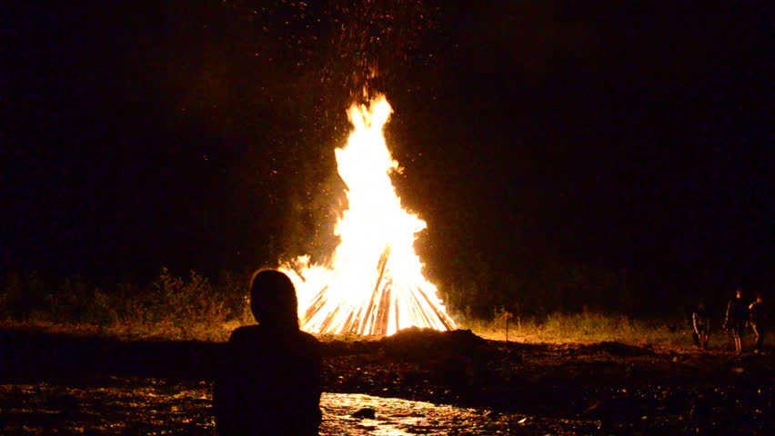 Festivities and fire for a holiday of Ivan Kupala,  | Shutterstock HD Video #11064548