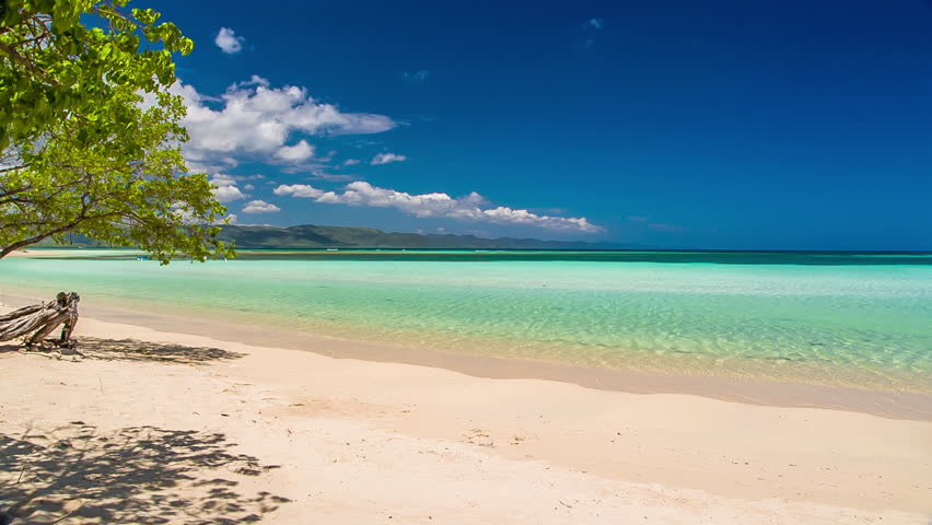 Tropical sandy beach with wave sounds | Shutterstock HD Video #11117540