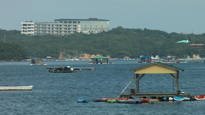 Kashikojima Island in Ago Bay - HD stock video clip