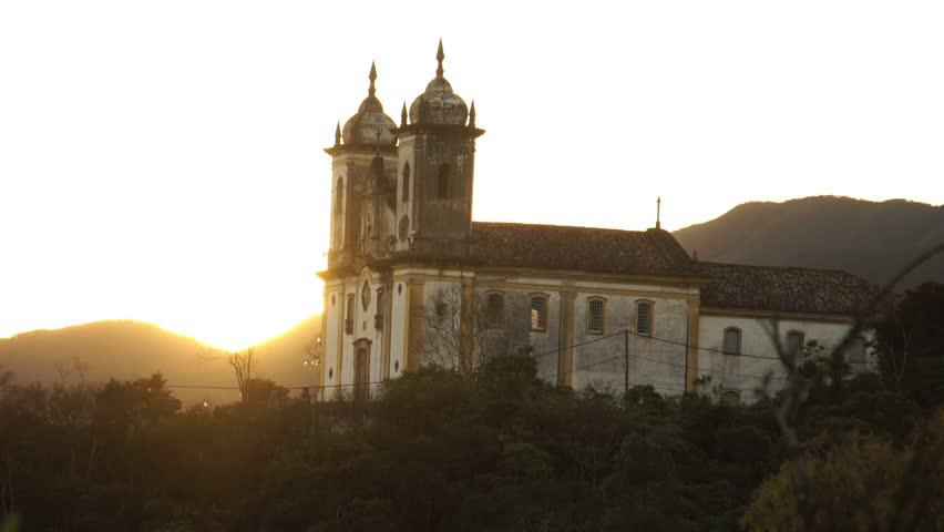 OURO PRETO, MINAS GERAIS / BRAZIL - 2015: Historic city world heritage UNESCO - HD stock footage clip