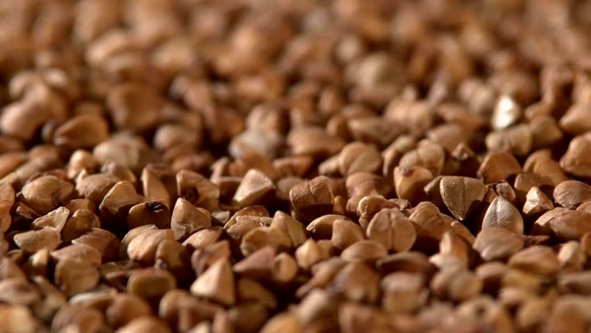 A lot of seads of buckwheat, rotation