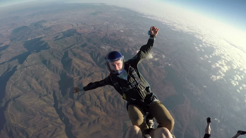 POV Man Sky Diving, Extreme Sport  | Shutterstock HD Video #11234594