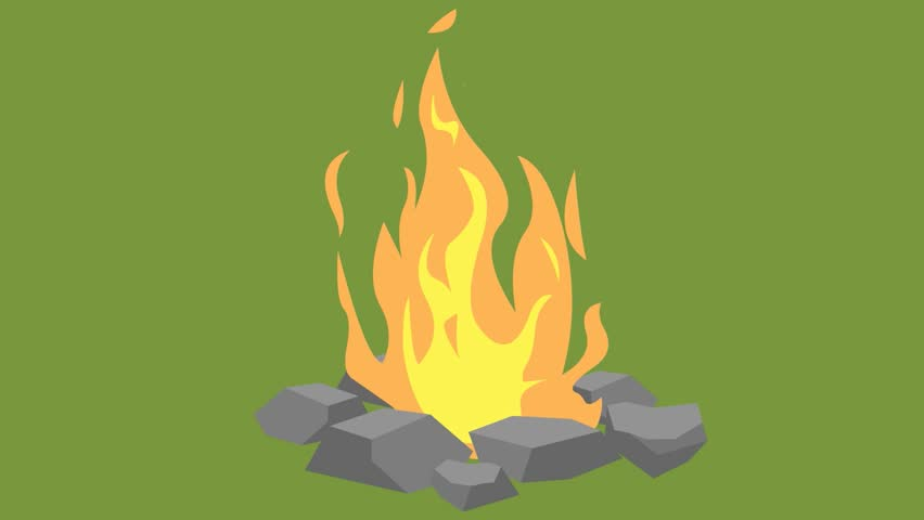 animation fire burning, fire and stones, cartoon, green background, fire on the nature, fire,drawn fire drawn fire, the fire animation, animated video, burning flames, cartoon fire, christmas,