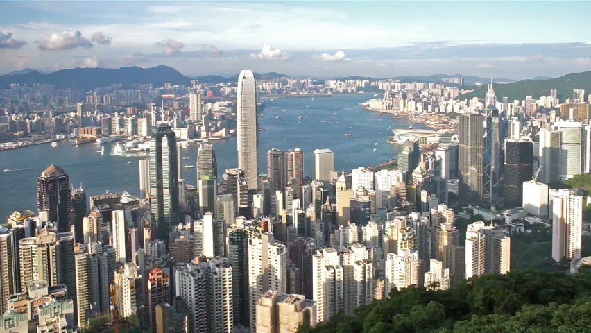 Hong Kong Victoria harbour view from the peak. | Shutterstock HD Video #11281979
