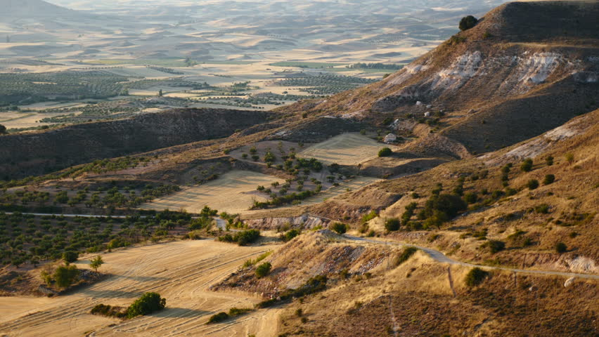 Viewpoint of the Alcarria, Guadalajara, Castilla la Mancha, Spain. Filmed in August 2015. | Shutterstock HD Video #11328005
