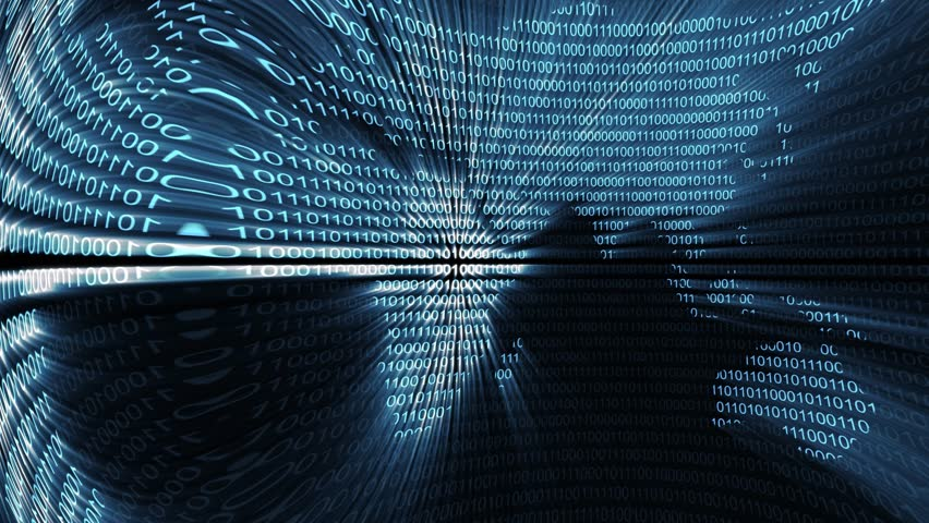 binary digital world computer data code cyberspace graphic animation