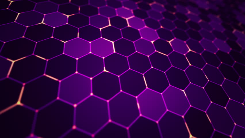 Blinking Blue, Purple And Black Hexagon Motion Graphic Stock Footage ...