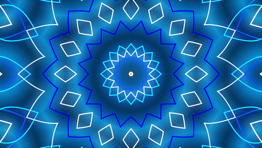 Blue abstract background, kaleidoscope light, loop | Shutterstock HD Video #11379350