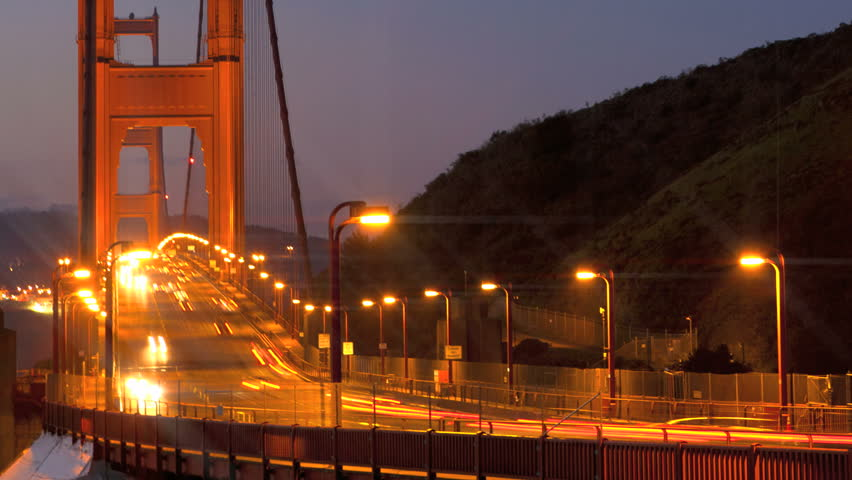San Francisco Golden Gate Bridge sunrise timelapse